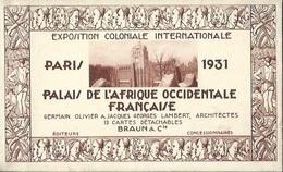 Carnet De 12 Cartes Exposition Coloniale Internationale Paris 1931 Palais De L'Afrique Occidentale Française - Exposiciones