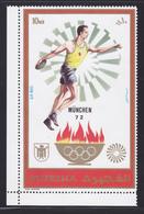 FUJEIRA AERIENS ** MNH Neuf Sans Charnière, 1 Valeur, TB (CLR313) Sports, Jeux Olympiques De Munich - Fujeira