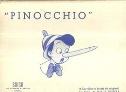"""661 """"PINOCCHIO-FOLDER DI 12 CARTOLINE ILLUSTRATE DA WALT DISNEY """" - CARTOLINE ILLUSTR.  ORIG.  NON SPEDITA - Non Classificati"""