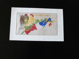 CARTE MILITAIRE BRODEE   LA MARSEILLAISE - Embroidered