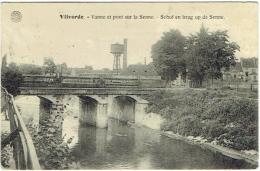 Vilvoorde/Vilvorde. Vanne Et Pont Sur La Senne. Schof En Brug Op De Senne. - Vilvoorde