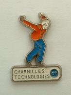 PIN'S PETANQUE - CHARMILLES TECHNOLOGIES - Bowls - Pétanque