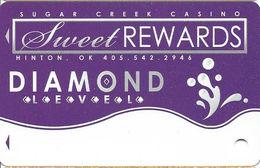 Sugar Creek Casino - Hinton, OK - BLANK Diamond Slot Card - Casino Cards