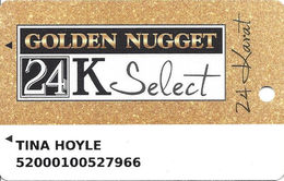 Golden Nugget Casinos - Multiple Locations - Slot Card With C-10549 & Www.plicards.com Over Mag Stripe - Casino Cards