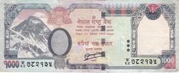 BILLETE DE NEPAL DE 1000 RUPIAS DEL AÑO 2010 - ELEFANTE-ELEPHANT (BANKNOTE) - Nepal