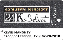 Golden Nugget Casinos - Multiple Locations - Chairman Slot Card / C-1054M & 092003 Over Mag Stripe - Casino Cards