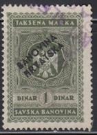 Kingdom Of Yugoslavia - Savska Banovina - Revenue Stamp With Overprint Hrvatska Banovina, Used - Gebraucht