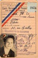 VP12.011 - VILLENEUVE LA GARENNE - Carte Nationale.... Des Mères De Famille - Cartes