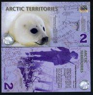 Arctic Territories, $2, 2010, Polymer, UNC Baby Seal - Billets