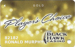 Black Hawk Casino - Shawnee, OK - Slot Card - Casino Cards