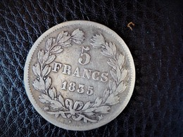 5 Francs Louis Philippe 1835 M Belle Piece  Rare 412.269 Exemplaires Frappés - J. 5 Franchi