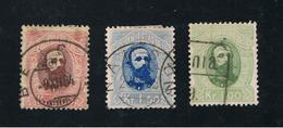 1. Oktober 1878 Freimarken König Oscar II MI 32 - 34 YT 32 - 34 SG 68 - 70 Gestempelt O - Norwegen