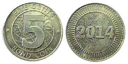 03665 MONETA BOND COIN 2014 5 CENT - Zimbabwe