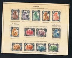 Nyassa 1901 Michel 27 - 39 YT 27 - 39 Gestempelt O - Mosambik