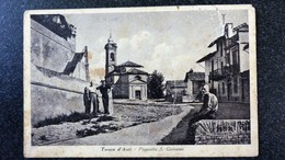 CPA ITALIE TONCO D ASTI Piazzetta S. Giovanni Village Animée Ecrite Circulée - Otros