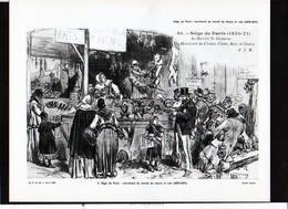 Photographie Pédagogique 1956 / Guerre De 1870 1871 ,militaria / Siège De Paris : Marchand De Viande De Chiens Et Rats - Reproductions