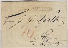 Österreich, V. Pilsen (L1) A. Bf. N. Steyr 1830 - Faltbf. M. Inhalt - Österreich