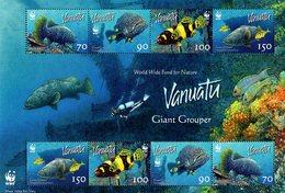 Vanuatu - 2006 - WWF - Giant Grooper - Mint Miniature Sheet - Vanuatu (1980-...)
