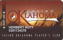 Casino Oklahoma - Hinton, OK - Slot Card - Casino Cards