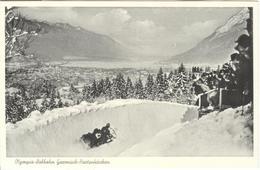 GERMANY Unused Olympic Postcard Hammer Nr,. H83 With Olympic Bobsleigh - Winter 1936: Garmisch-Partenkirchen