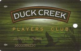 Creek Nation Casino - Duck Creek, OK - Slot Card - Reverse Logo On Left - Casino Cards