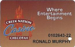 Creek Nation Casino - Checotah, OK - Slot Card - Casino Cards