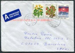 2001 Iceland Sudavik Airmail Cover - Barcelona, Spain. - 1944-... Republic