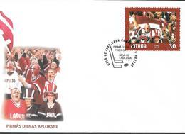 2004 Lettland  Latvija  Lettonie  Mi. 610 FDC  Eishockey-Weltmeisterschaft, Riga - Letonia