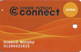 Creek Nation Casinos - Multi Locations In OK - Slot Card - Last Line Reverse Is 'and Its Courts.' - Casino Cards
