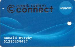 Creek Nation Casinos - Multi Locations In OK - Slot Card - Last Line Reverse Starts 'Muscogee...' - Casino Cards