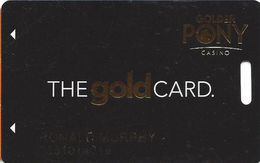 Golden Pony Casino - Okemah, OK - Slot Card - Casino Cards