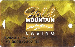 Gold Mountain Casino - Ardmore, OK - Slot Card  With 01 Over Mag Stripe - Casino Cards