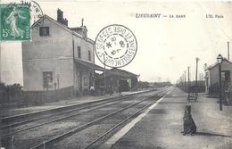 SEINE ET MARNE - 77 - LIEUSAINT - La Gare - Petite Pliure HD - Melun