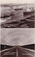 Postcard The River Mersey Liverpool Looking To Birkenhead And Tunnel Underneath River Empire View RP My Ref  B12177 - Liverpool