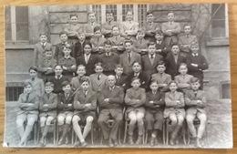Photo Carte Postale Ancienne. Groupe: École. Pas De Date. - Anonymous Persons