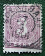 Cijfer Figure 3 Ct NVPH 20 1883-1890 Gestempeld / Used NEDERLAND INDIE / DUTCH INDIES - Netherlands Indies