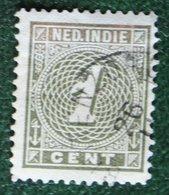 Cijfer Figure 1 Ct NVPH 17 1883-1890 Gestempeld / Used NEDERLAND INDIE / DUTCH INDIES - Niederländisch-Indien