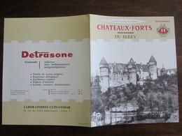 PUBLICITE MEDICALE DETRASONE N 11 CHATEAUX FORTS MECONNUS DU BERRY - Advertising