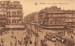 BRUXELLES - Place De La Bourse Et Boulevard Anspach - Lanen, Boulevards