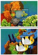 Nicaragua - 1996 - Marine Life - Set Of 2 Souvenir Sheets - Nicaragua