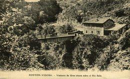 PONTON VIDOSA VIADUCTO DE GRAN ALTURA SOBRE EL RIO SELLA POSTAL POSTCARD - Asturias (Oviedo)