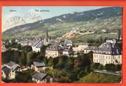 HCE-11 Sierre , Vue Générale, Circulée Vers Italie En 1908. Rossier 8360 - VS Valais