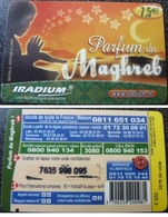 IRADIUM PARFUM Du MAGHREB 7.5€ TELECARTE PREPAYEE 2007/12/31 - France