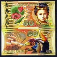 Netherlands Indies (Indonesia), 50 Gulden, 2016, Polymer, UNC - Girl, Sailboat - Billets
