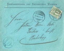 "Motiv Brief  ""Ersparniskasse Amt Wangen"" - Niederbipp          1907 - 1882-1906 Armoiries, Helvetia Debout & UPU"