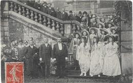 71 CHALON SUR SAONE Carnaval 1912 Réception Des Reines à La Sous Préfecture - Chalon Sur Saone