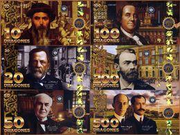 POLYMER SET, El Club De La Moneda 10;20;50;100;200;500 2017 2018 Great Inventors - Andere