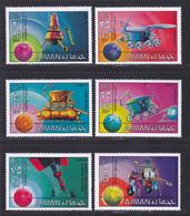 AJMAN N°  149, AERIENS N° 125 ** MNH Neufs Sans Charnière, 6 Valeurs, TB (D7162) Cosmos, Véhicules Lunaires - Ajman