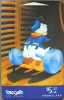 New Zealand - NZ-A-153, Cartoons, Disney, Weightlifting , Donald Duck I, 1995, Mint - New Zealand