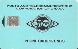CARTE--PUCE-SC7-10/96-GHANA-SCHLUMBERGER-25U-UTILISE-TBE -RARE - - Ghana
